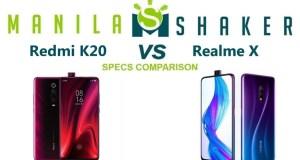 redmi-k20-vs-realme-x-Specs-Comparison