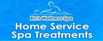rich wellness spa massage home service logo