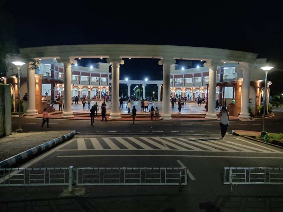 The Student Plaza at MIT Manipal