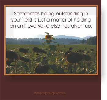 outstanding in your field