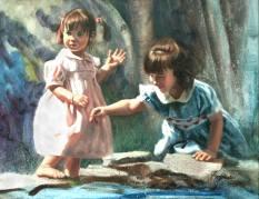 portrait painter of little girls