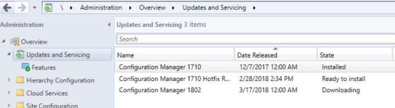SCCM (System Center Configuration Manager) 1802 Step by Step Upgrade Guide 2