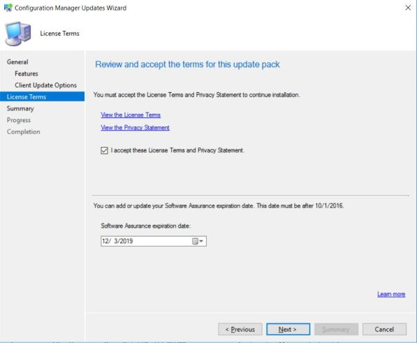 SCCM (System Center Configuration Manager) 1802 Step by Step Upgrade Guide 10