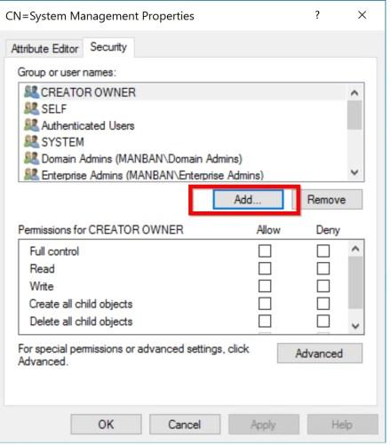 Preparing Active Directory for SCCM 5