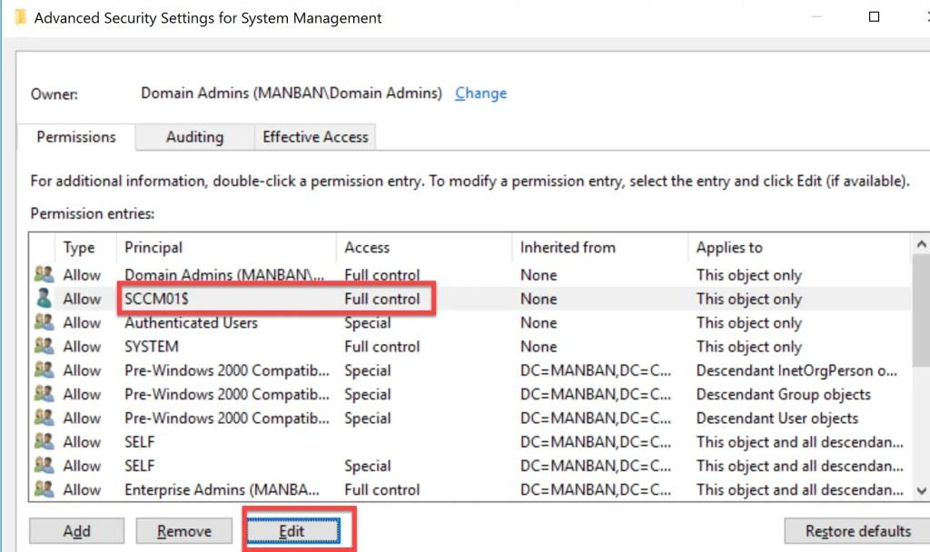 Preparing Active Directory for SCCM 7