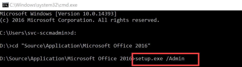 Deploy Office 2016 through SCCM 2