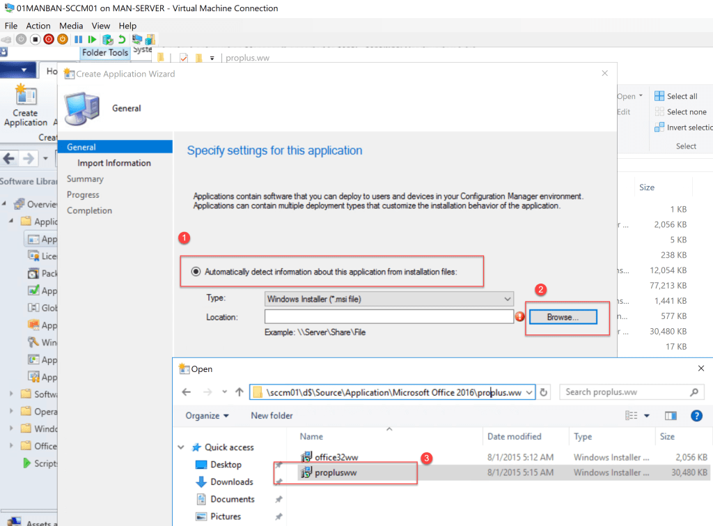 Deploy Office 2016 through SCCM