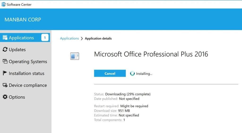 Deploy Office 2016 through SCCM