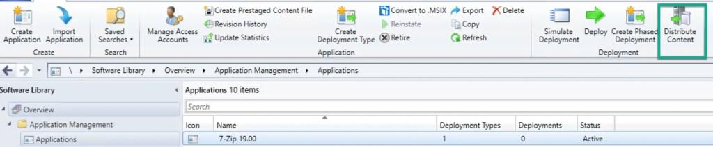 Deploy 7-Zip Application through SCCM 13