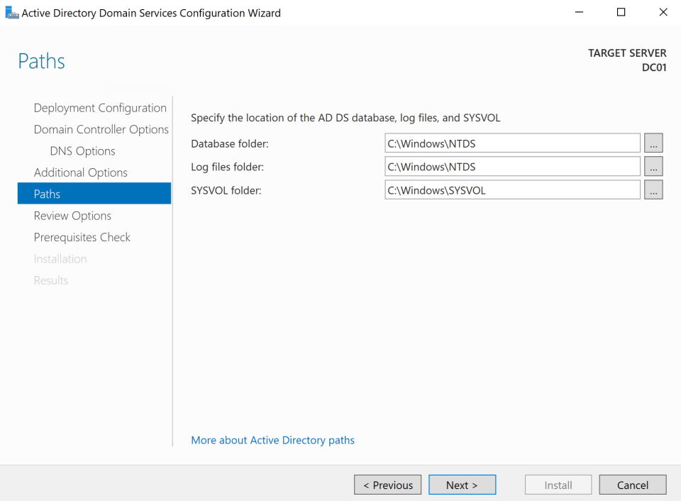 Install Active Directory Server 18