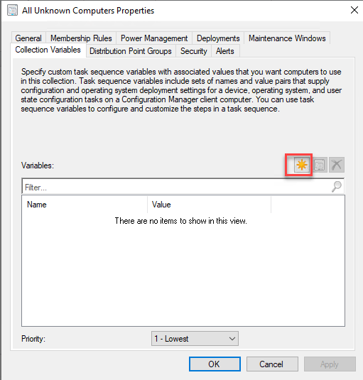 Prompt for Computer name during task sequence 1