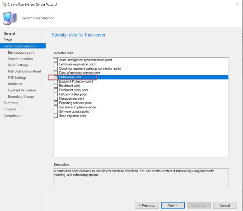 Install Configure SCCM Distribution Point 7