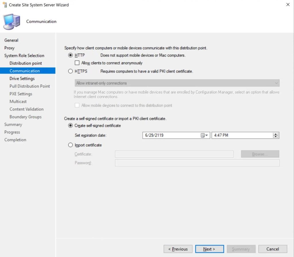 Install Configure SCCM Distribution Point 9