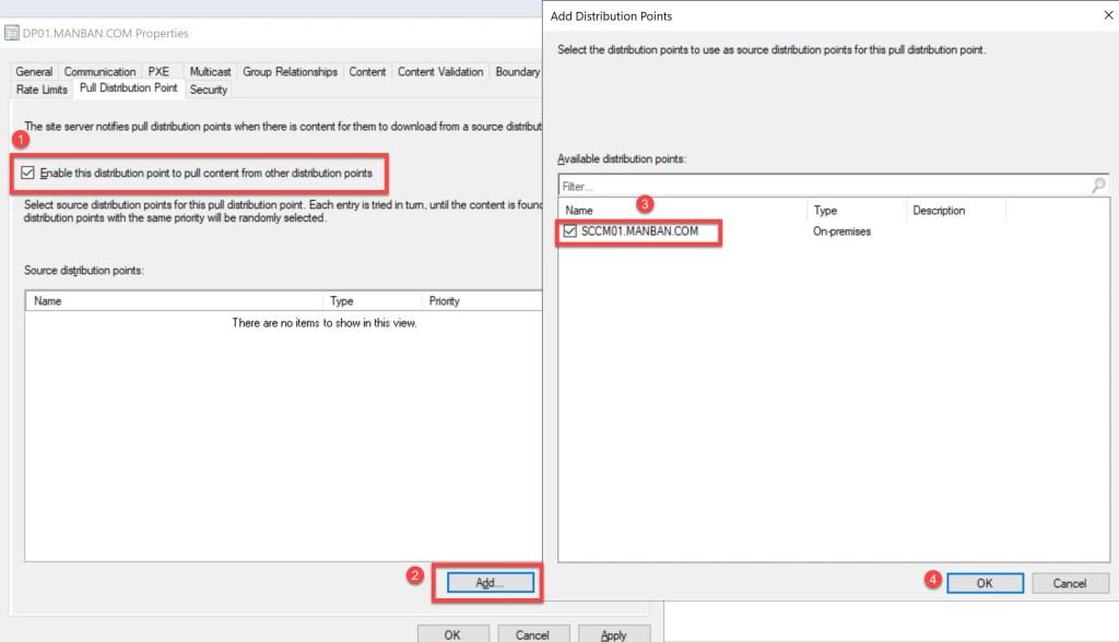 Configure SCCM Pull Distribution Point 2