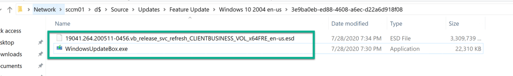 Deploy Feature Update Win10 2004 SCCM 15