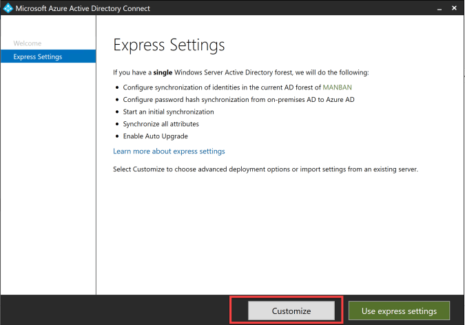 How to connect AD DS with Azure AD through AD Connector 2