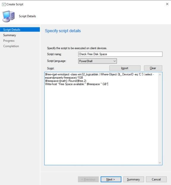 Create and run PowerShell Scripts through SCCM 4