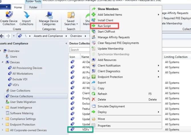 Create and run PowerShell Scripts through SCCM 8