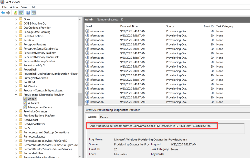 Create provisioning package using Windows Configuration Designer 10