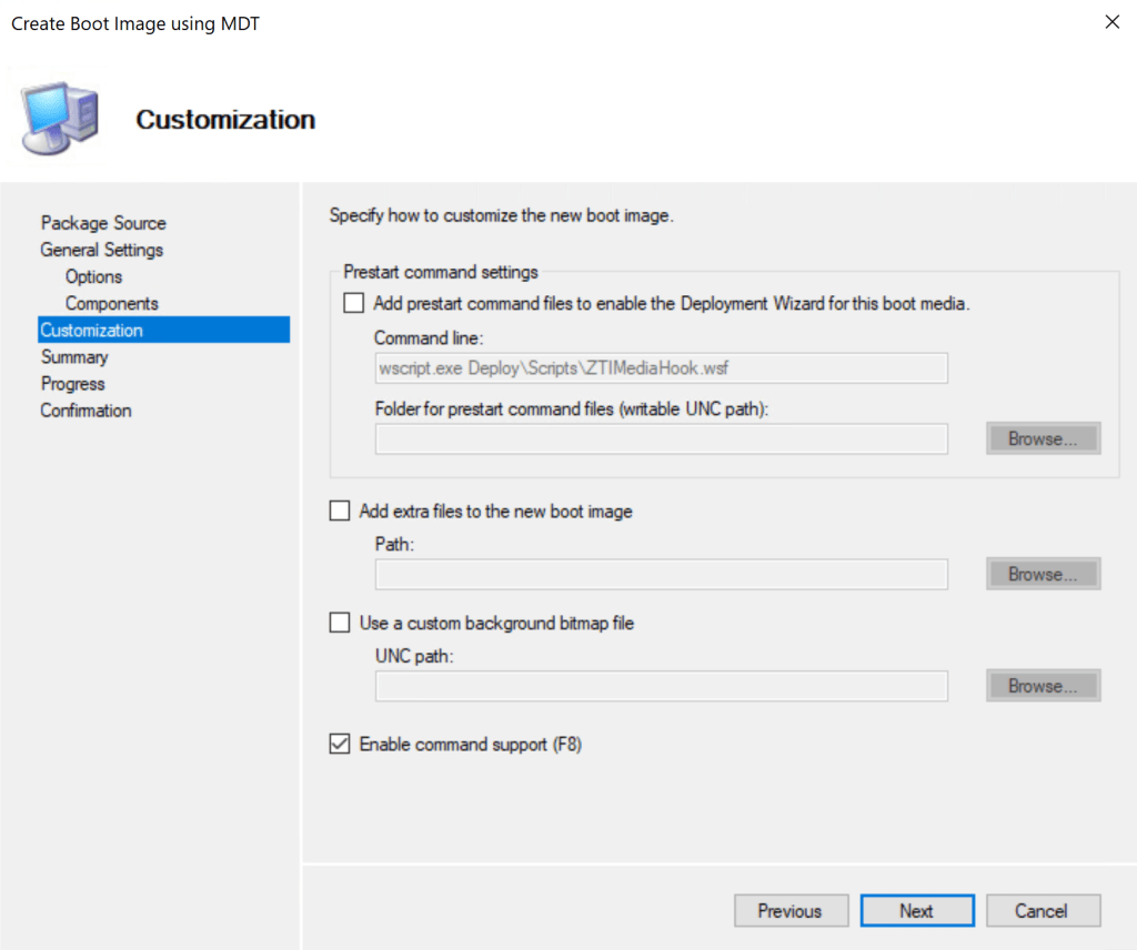 How to integrate MsDart with SCCM Boot Image 11