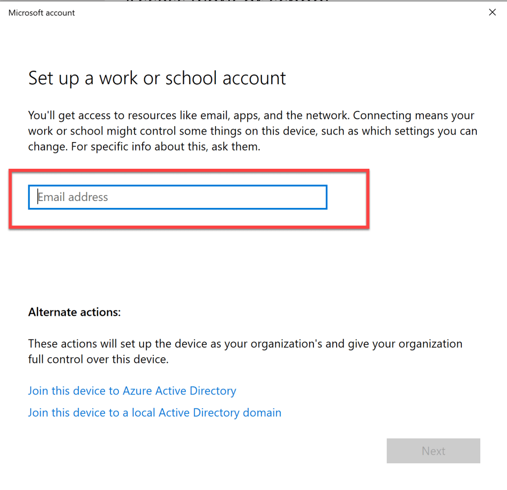 How to register Windows 10 device to Azure AD 3