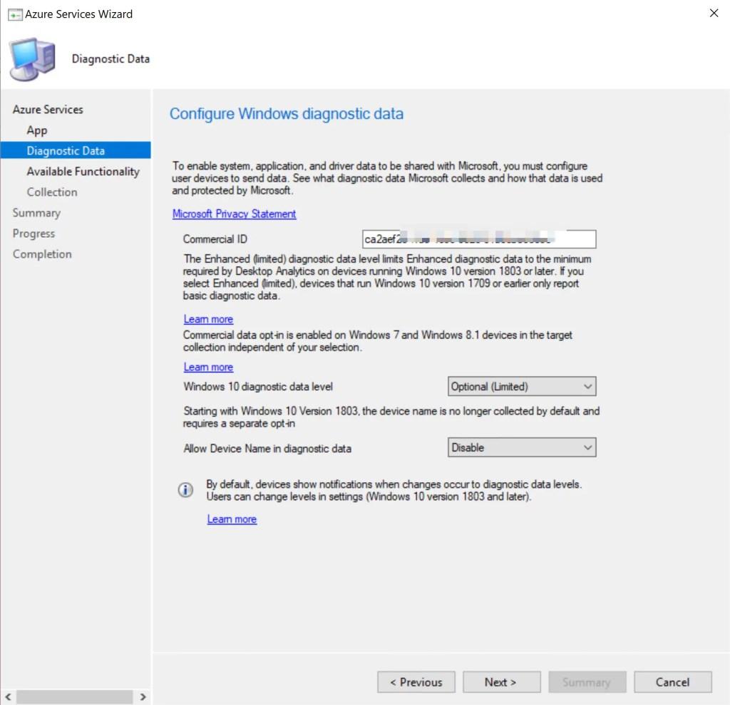 Set up Desktop Analytics to integrate with SCCM 20
