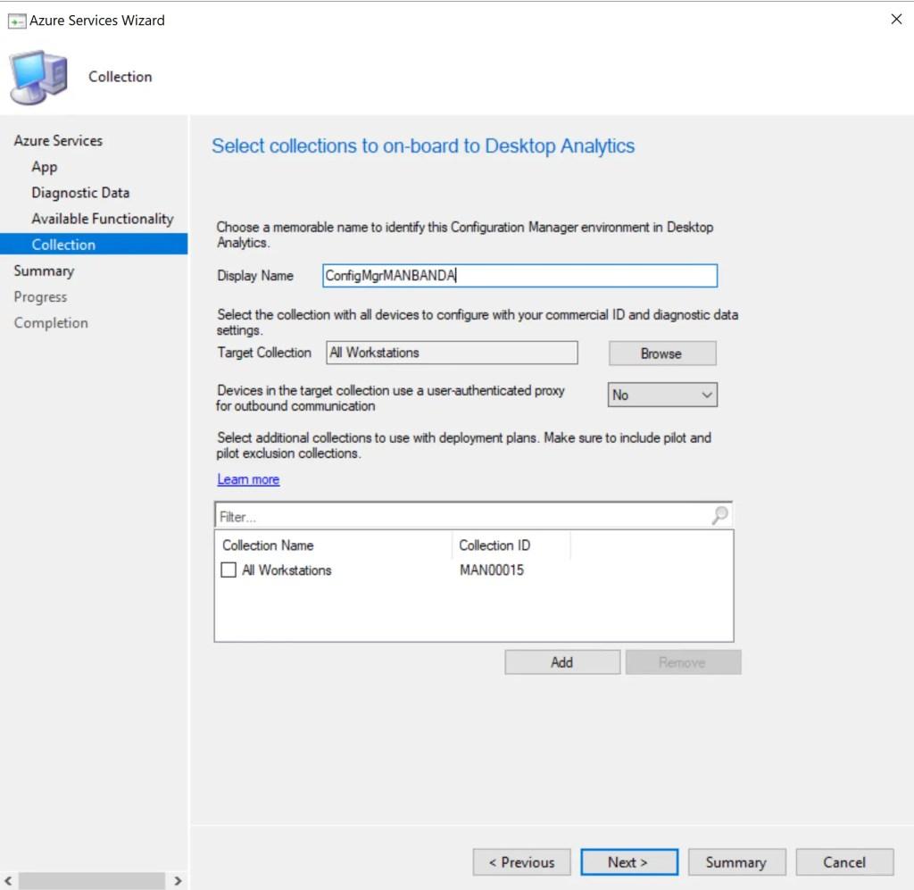 Set up Desktop Analytics to integrate with SCCM 22