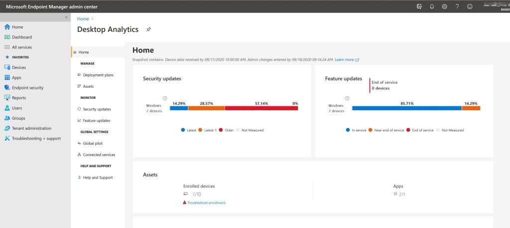 Set up Desktop Analytics to integrate with SCCM 25