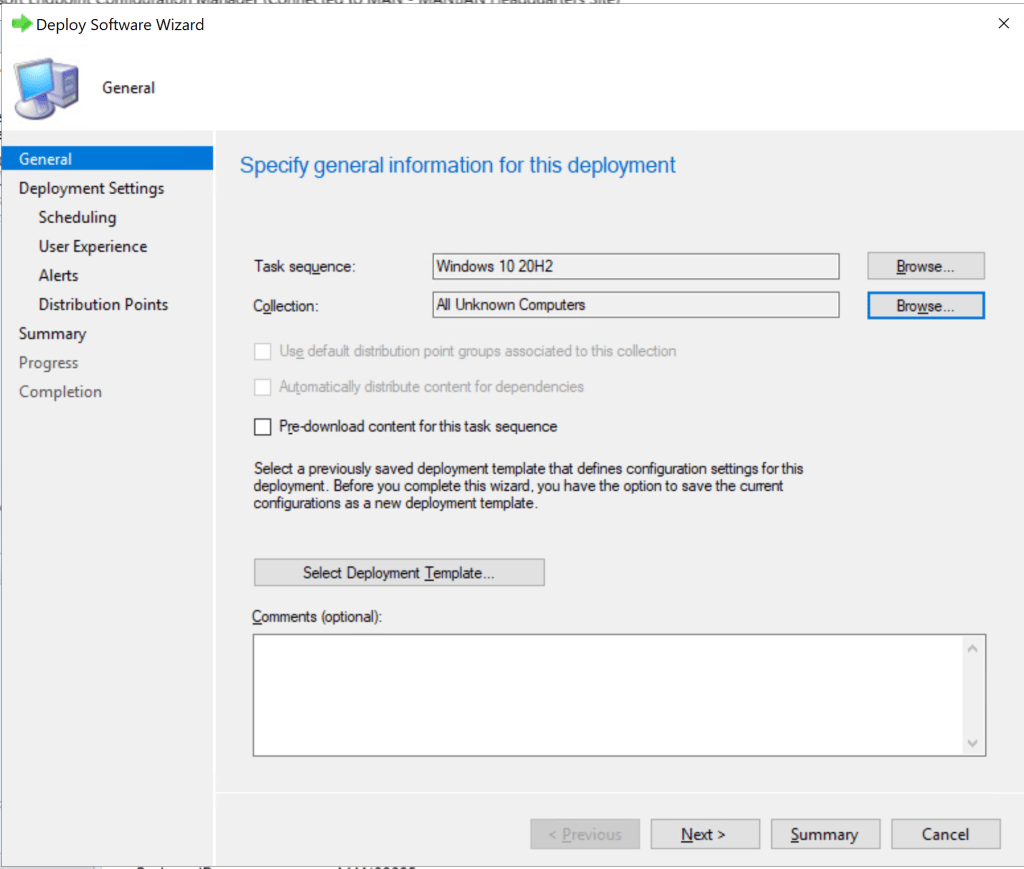 Deploy Windows 10 20H2 task sequence using SCCM 18