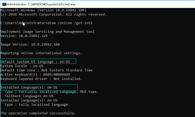 How to install language pack through Task Sequence Windows 10 6
