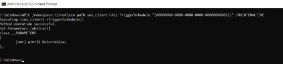 Initiate SCCM client agent actions using command line 2