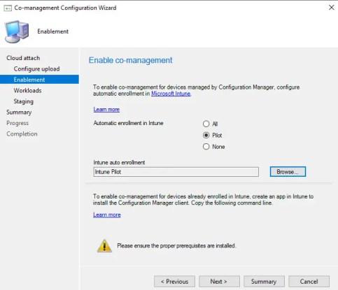 Enablement enable co-management