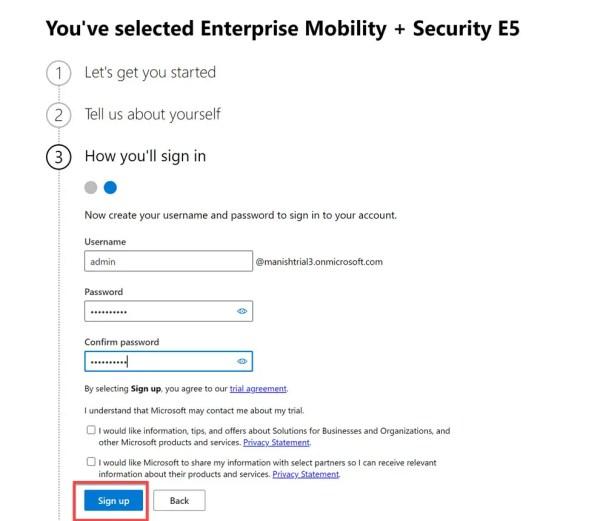 Create and setup Microsoft Intune Account- MEM 4
