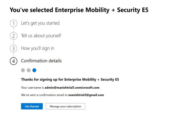 Create and setup Microsoft Intune Account- MEM 5