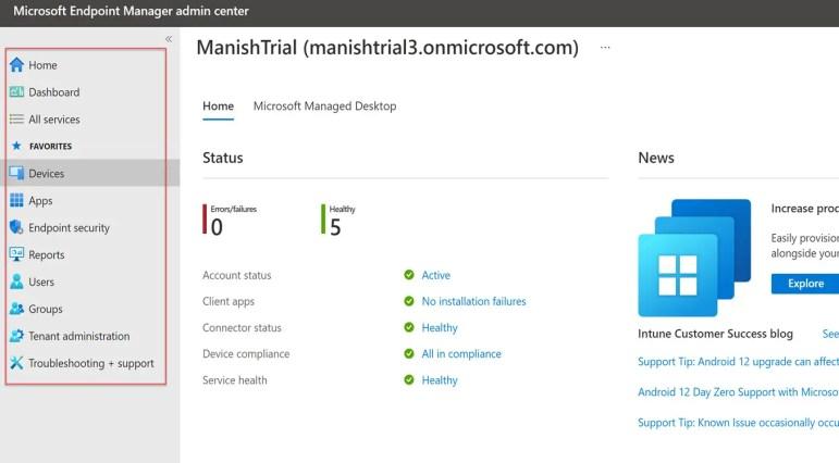 Create and setup Microsoft Intune Account- MEM 8