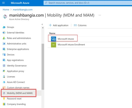 Microsoft Intune Configure