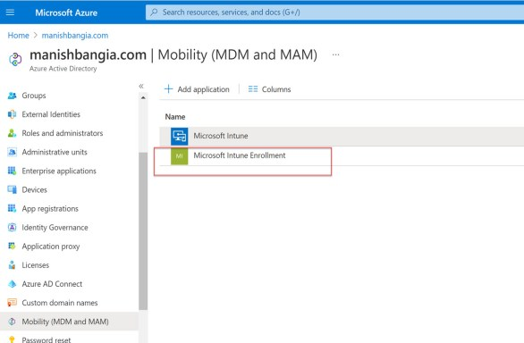 Enable automatic enrollment in Intune 2