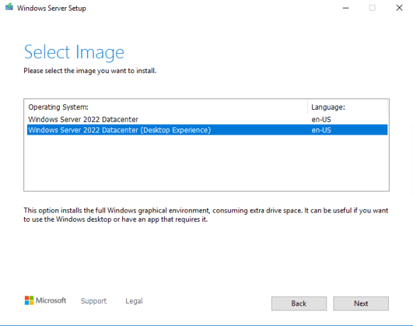 Windows Server 2022 Desktop Experience