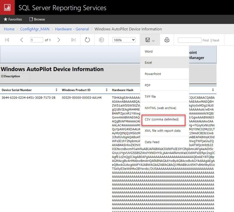 Import Windows AutoPilot Device Information