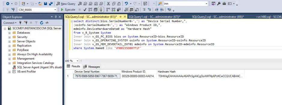 SQL Query for AutoPilot Devices