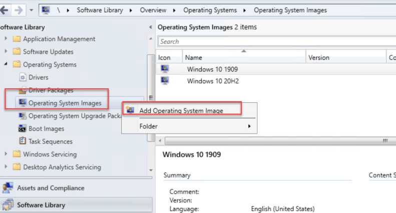 Add Operating System Image