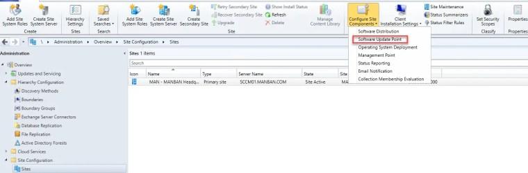 Configure Site Components