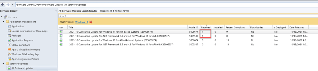 Deploy Windows 11 Software Update using SCCM 2