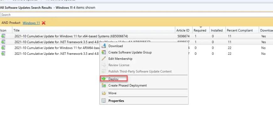 Software Update Deploy