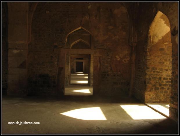 Inside Jahaz Mahal