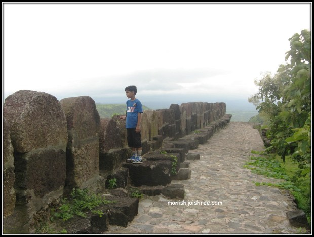 me on the boundary walls of Mandu