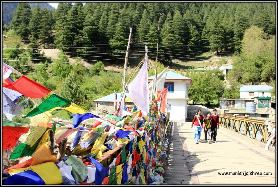 Prayer Flags everywhere, Sangla, Himachal