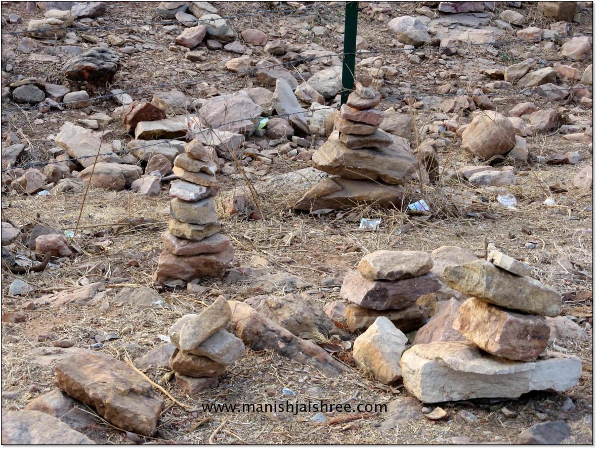 Wishing stones on Chittorgarh Fort