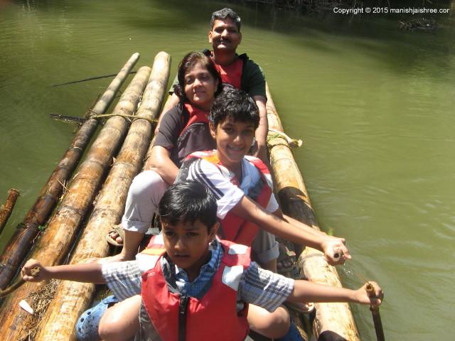 Bamboo Rafting in Kabini River