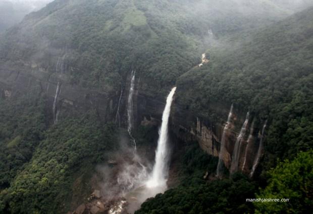 The iconic image of Cherrapunji
